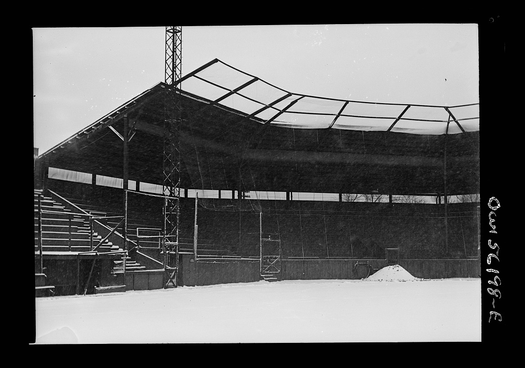 Philadelphia, Pennsylvania. Grandstand of a baseball park at Girard Avenue and Parkside Avenue. This field is used principally by the Negro League