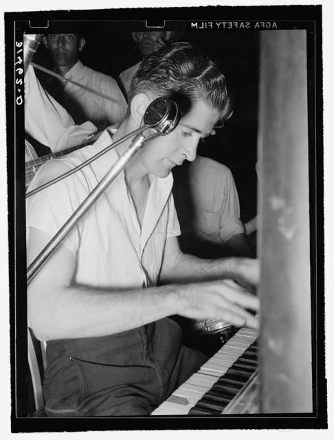 Pianist in cajun band contest. National Rice Festival, Crowley, Louisiana