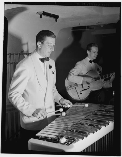 [Portrait of Adrian Rollini and Allen Haulon, between 1938 and 1948]