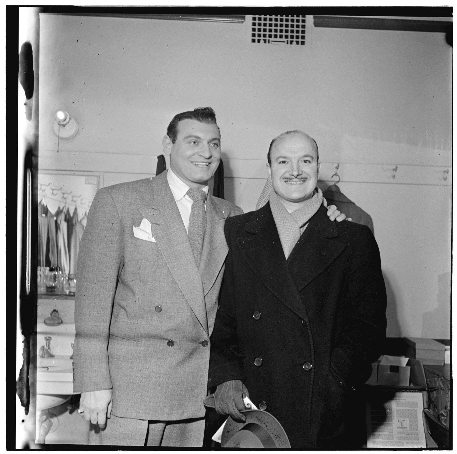 [Portrait of Bud Freeman and Frankie Laine, New York, N.Y.(?), between 1938 and 1948]