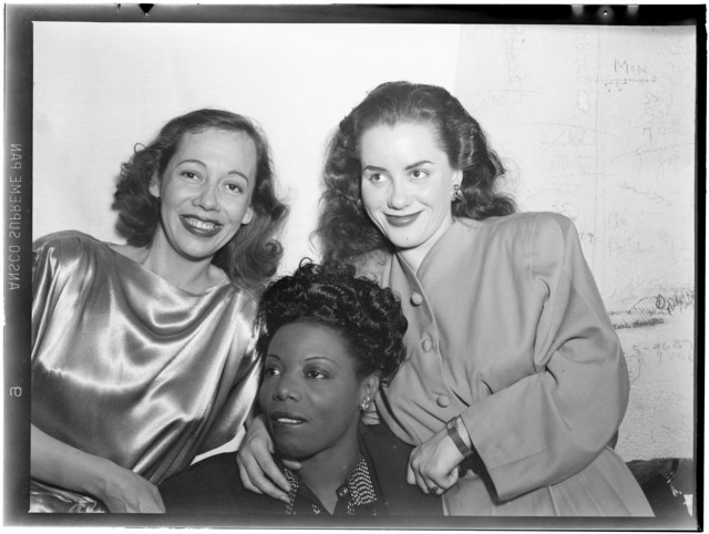 [Portrait of Imogene Coca, Mary Lou Williams, and Ann Hathaway, between 1938 and 1948]