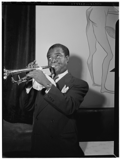 [Portrait of Louis Armstrong, between 1938 and 1948]