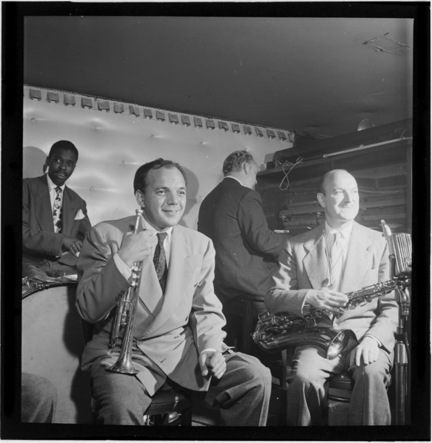 [Portrait of Marty Marsala and Bud Freeman, between 1938 and 1948]