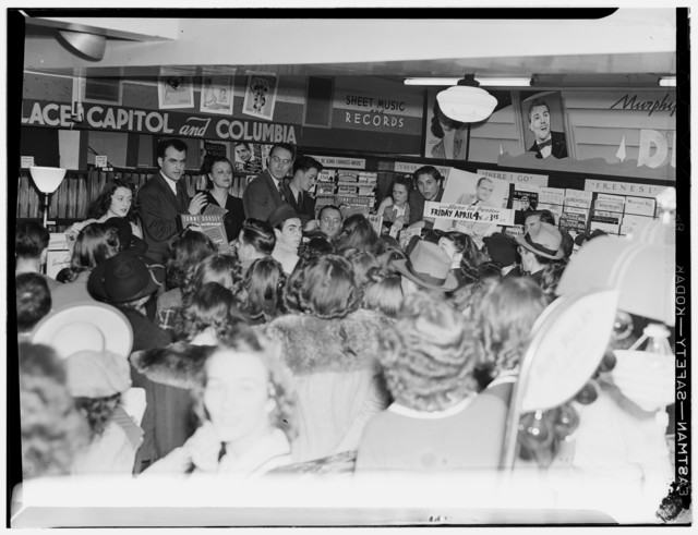 [Portrait of Tommy Dorsey, record store, Washington, D.C., between 1938 and 1948]