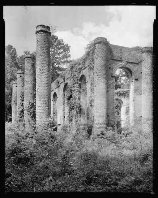 Prince William's Church, Sheldon Church (ruins), Sheldon, Beaufort County, South Carolina