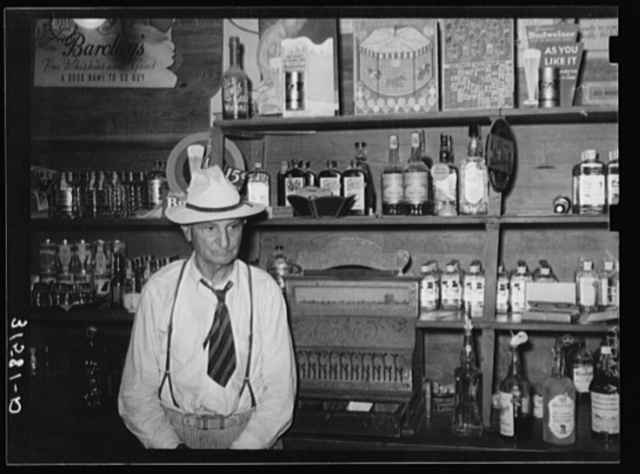 Proprietor of barroom near Crowley, Louisiana. This man is a Cajun