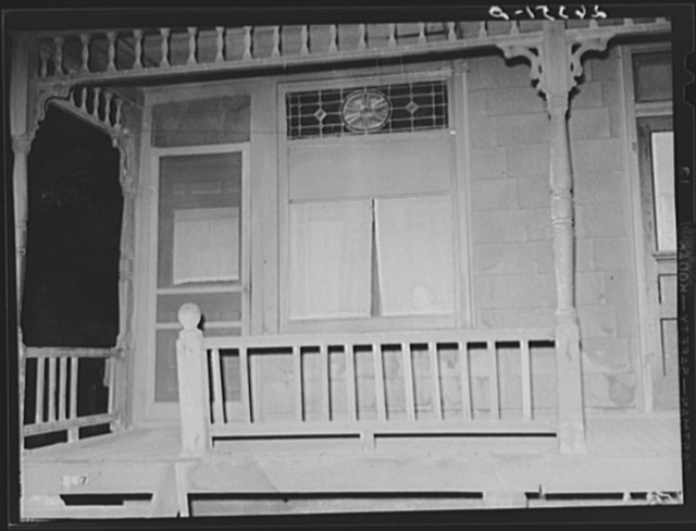 Prostitute at window. Peoria, Illinois