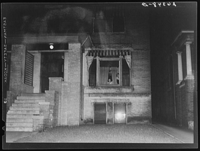 """Prostitutes """"roping"""" at window. Peoria, Illinois"""