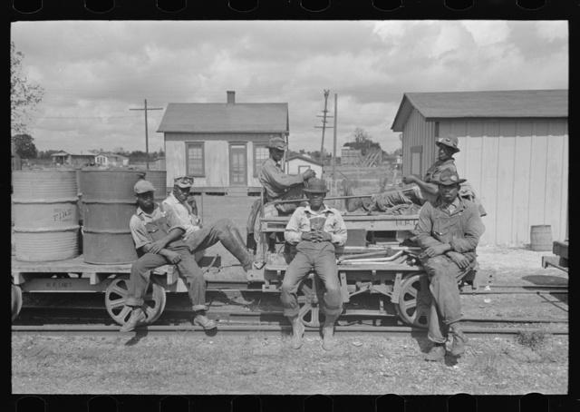 Railroad workers, Port Barre, Louisiana