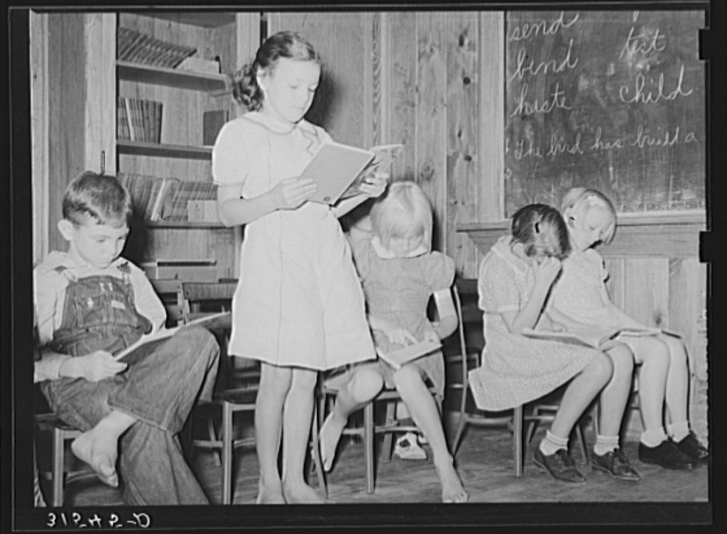 Reciting. Lake Dick Project School. Arkansas