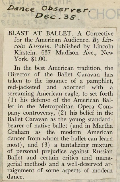 """[ Review of """"Blast at ballet""""]"""