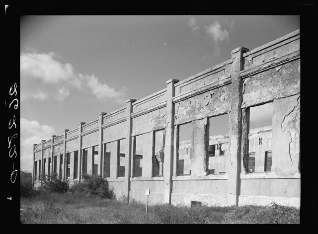 Ruins of an abandoned cigar factory. Key West, Florida