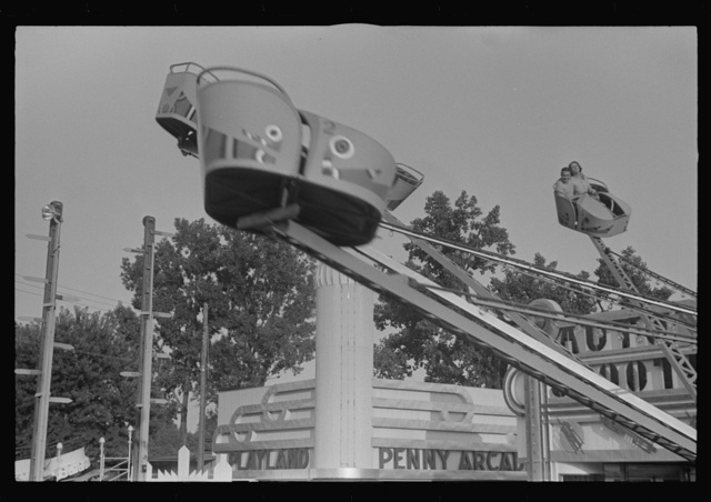 Scene at Buckeye Lake Amusement Park, near Columbus, Ohio (see general caption)