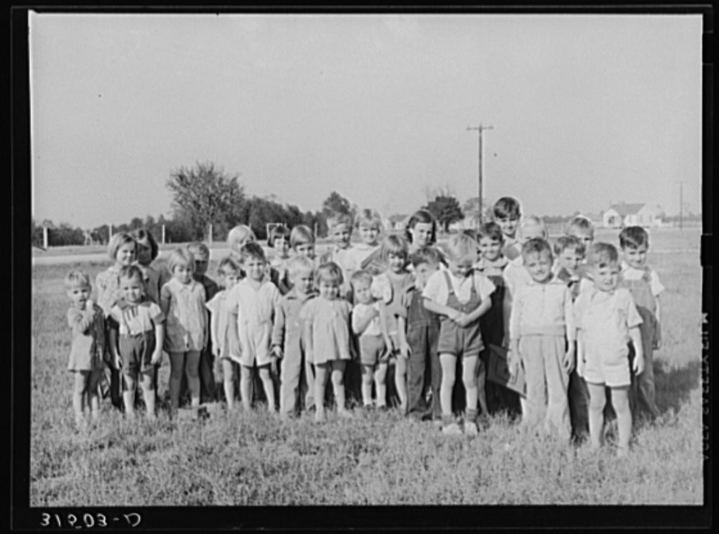 Schoolchildren. Lake Dick Project, Arkansas