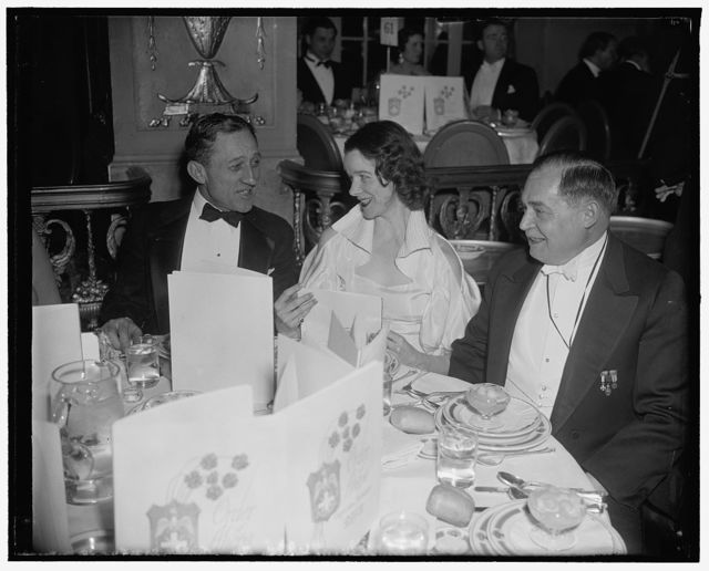 Sen. Carl Hatch, Mrs. Sherwood Jones, Soterios Nicholson