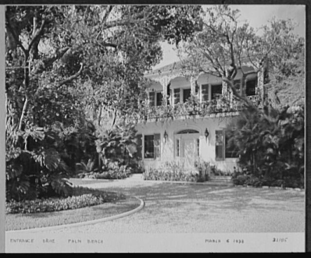 Seventy-one years, or, My life with photography. Entrance drive, Palm Beach, Mar. 6, 1938