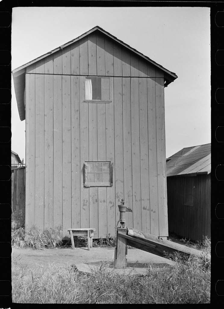 Shack in which families of cranberry pickers are crowded together. Burlington County, New Jersey