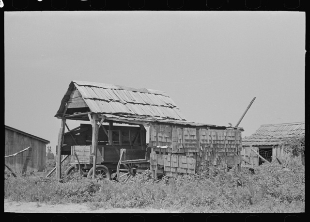 Shed for wagon storage, New Madrid County, Missouri