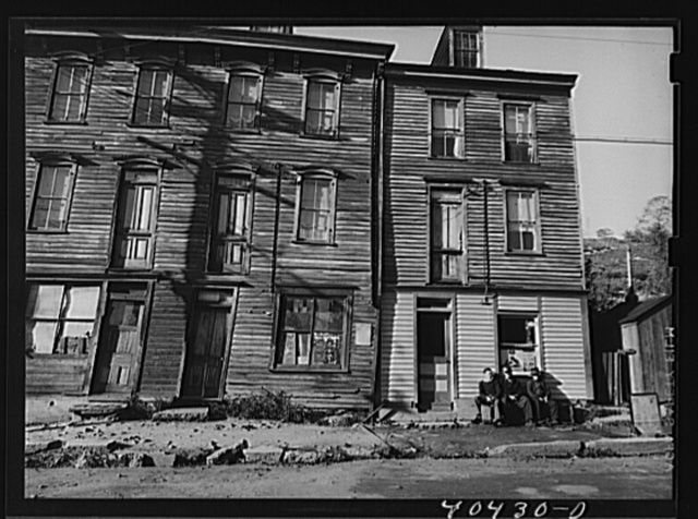 Shenandoah, Pennsylvania. House fronts in a mining town