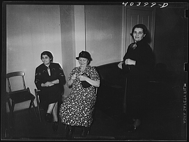 Shenandoah, Pennsylvania. Ukrainian women at a political meeting