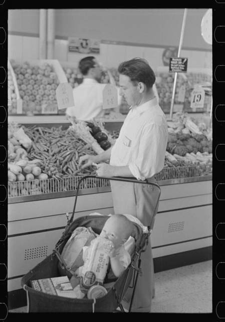 Shopping in coop store, Greenbelt, Maryland