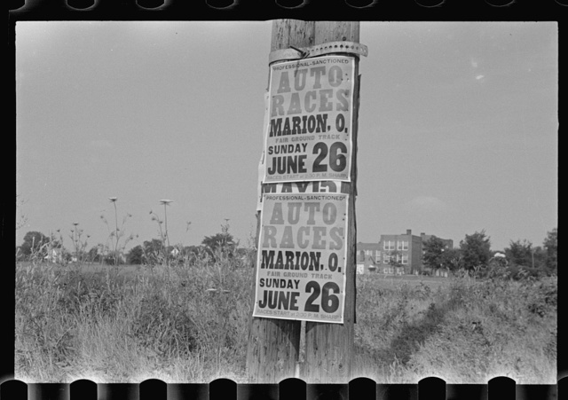 Signs along Route 40, central Ohio (see general caption)