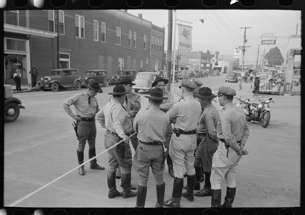 State troopers at National Rice Festival, Crowley, Louisiana