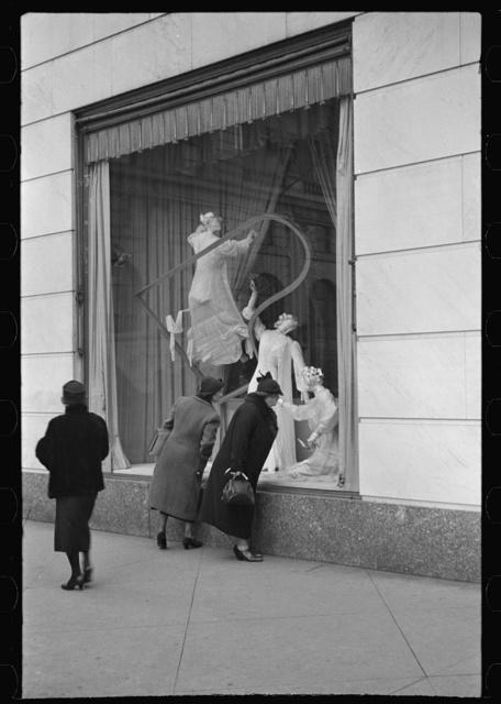 Surrealistic window display, Bergdorf Goodman, New York City