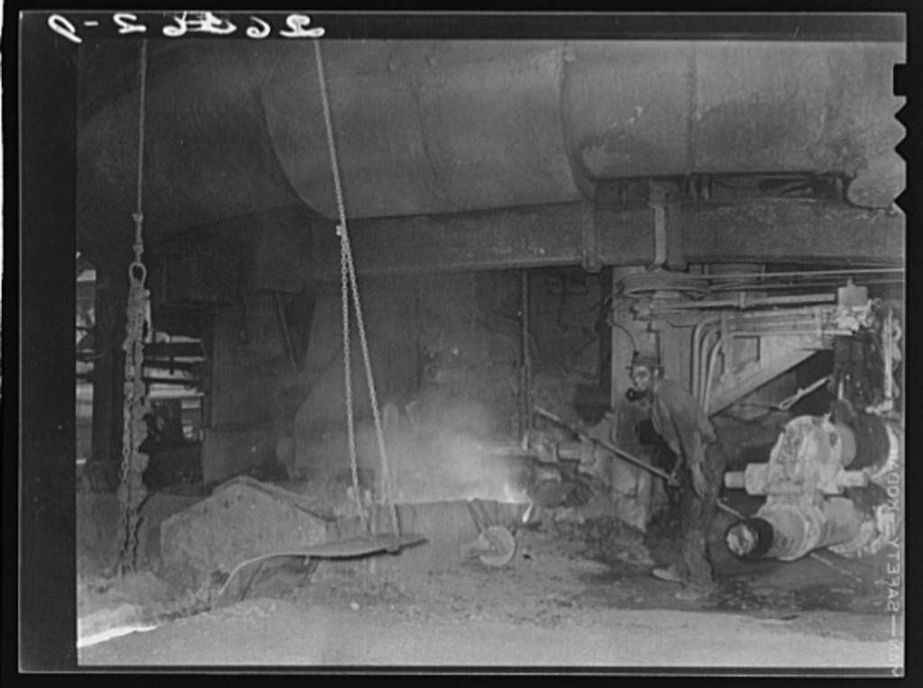 Tapping a blast furnace. Pittsburgh, Pennsylvania