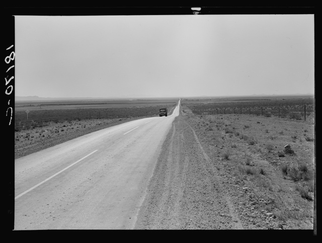 The highway going West. U.S. 80 near Lordsburg, New Mexico