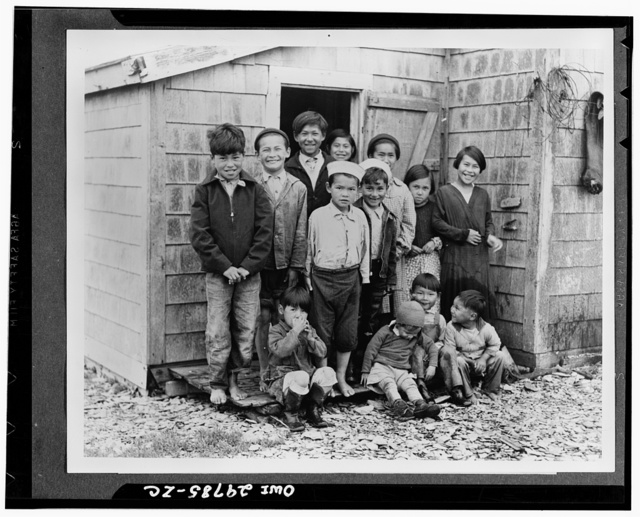 The population of the Aleutians, which is sparse, consists mainly of Aleuts and a few Russian and Russian-Aleut types. The Aleuts are a mongoloid people and are quite distinct from the Eskimo. Even in the cold, foggy Aleutians, youngsters like to go barefoot, as this picture shows. The Aleuts are under the protection of Interior Department's Office of Indian Affairs