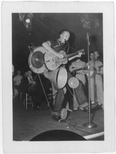 [Unidentified one-man band at the Mountain Music Festival, Asheville, North Carolina]