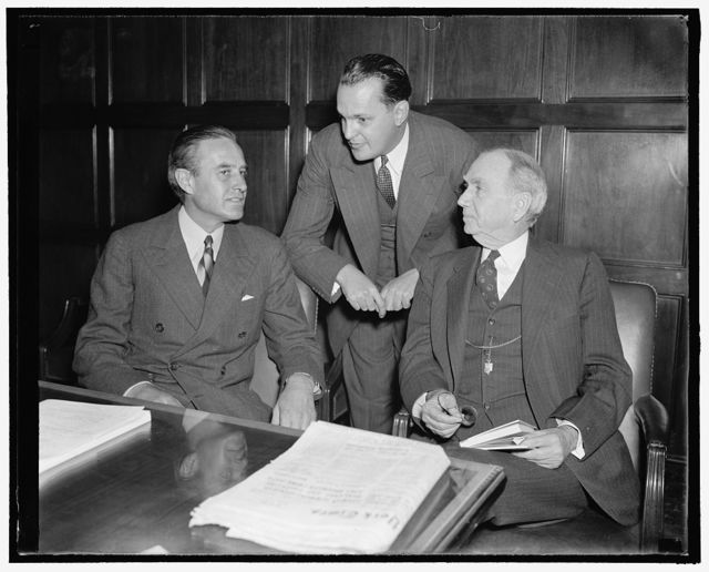 W. Averill Harriman, Dr. Willard Thorpe, and Sec. of Com. Daniel Roper
