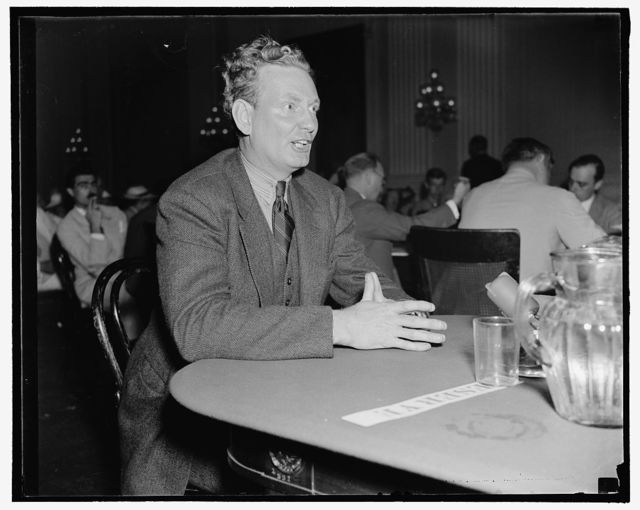 Wallace R. Stark, appearing before the Dies Un-American Committee about communism in the Federal Theatre Project