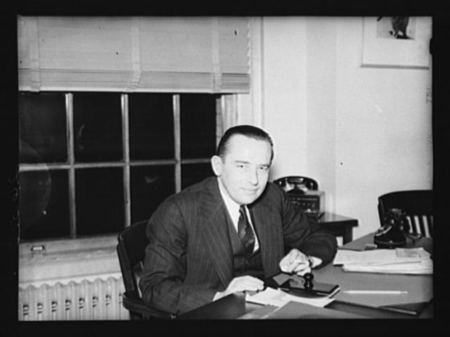 Washington, D.C. Milo Perkins, assistant administrator, FSA (Farm Security Administration)