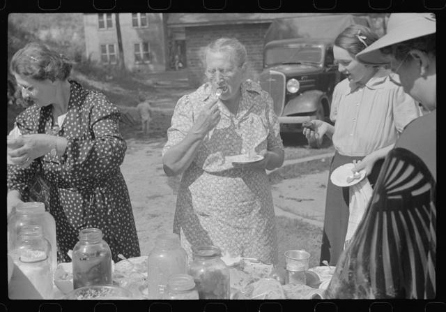 Women at Sunday school picnic, Jere, West Virginia