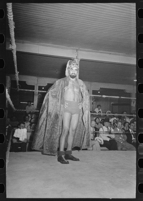 Wrestler at match sponsored by American Legion, Sikeston, Missouri