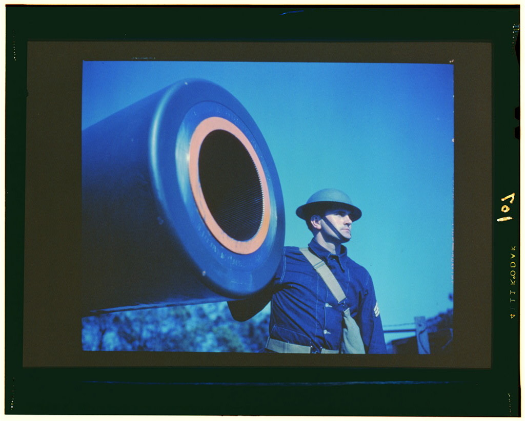16-inch coast artillery gun, Ft. Story, Va.