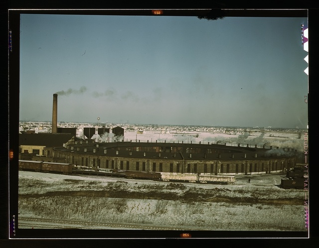A Chicago and Northwestern railroad roundhouse, Chicago, Ill.