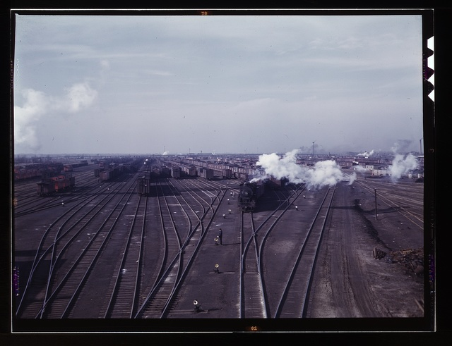 A general view of a classification yard at C & NW RR's Proviso(?) yard, Chicago, Ill.