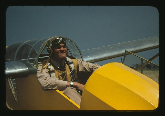A marine Lieutenant, glider pilot in training at Page Field, Parris Island, S.C.