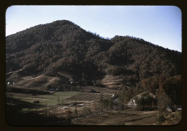 A mountain farm along the Skyline Drive in Virginia