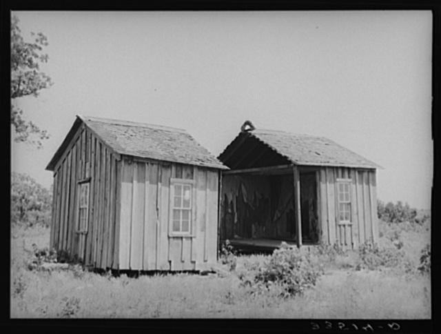 Abandoned farmhouse. McIntosh County, Oklahoma