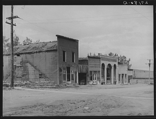 Abandoned stores. Pony, Montana