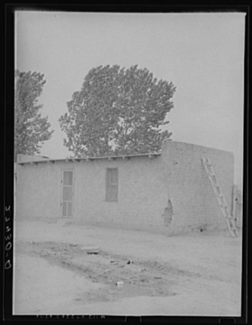 Abode houses for sugar beet workers. Hysham, Montana