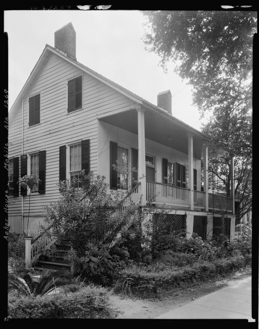 Acker House, 63 Springhill Ave., Mobile, Mobile County, Alabama