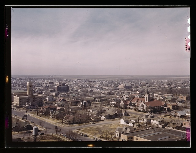Amarillo, Texas, general view, Santa Fe R.R. trip