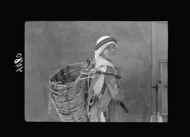 American University, Cairo, Tuesday April 18, 1939. Various studies of basket boy