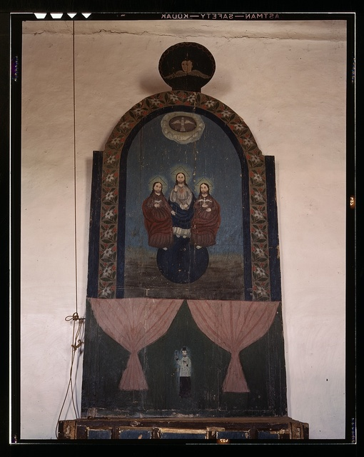 An altar in the church dedicated to the Trinity, Trampas, N.M.