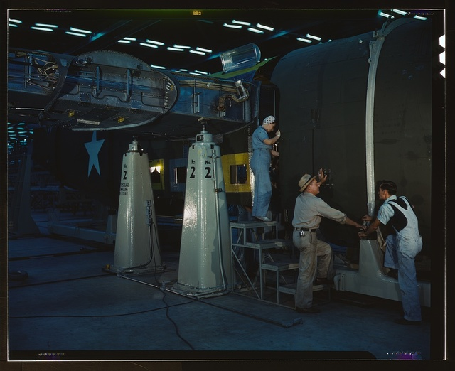 Assembling Liberator Bomber, Consolidated Aircraft Corp., Fort Worth, Texas